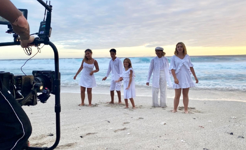 Kids United shoot their latest music video in Reunion Island